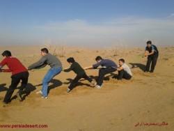 اردوی دانش آموزی دبیرستان شهید مطهری در کویر برگزار شد