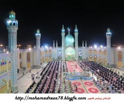 آیین جزءخوانی قرآن امامزاده محمدهلال در ماه رمضان